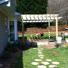 New Pergola. Patio. Beer and wine sipping.