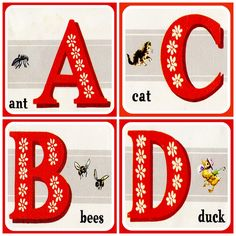 Retro ABC Graphics ~ Vintage Alphabet Block Images - rookno17.com