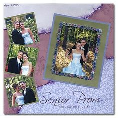 Prom Scrapbook Layouts | Layout: 'Senior Prom' by Andrea Steed