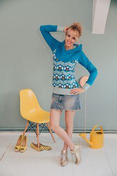 """HOODIE """"TIGERMILKY!""""VON BONNIE & BUTTERMILK von Bonnie & Buttermilk auf DaWanda.com #sweatshirt #sweater #pullover #shirt #bonnieandbuttermilk #local #localfashion #fashion #handmade #berlin #hoodie #hoody #kapuzenpullover #tigerlilly"""