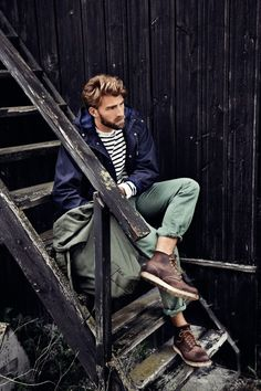 When the military and nautical collide.  #menstyle #menswear #streetstyle #urbanstyle #smartstyle #smartlife #military #marine #nautical #men #forhim #citylife