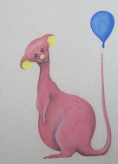 fncy (2014) 21x30cm. Aquarela, grafite e giz pastel seco sobre papel paraná. #art #arte #illustration