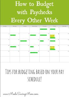 How to Budget If You are Paid Every 2 Weeks - Moola Saving Mom - Finance tips, saving money, budgeting planner Excel Budget, Budget Spreadsheet, Money Budget, Sample Budget, Budget Tracking, Financial Peace, Financial Tips, Financial Planning, Financial Literacy