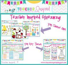Huge clip art giveaway with a bonus teacher planner!
