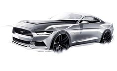 Ford Mustang Design Sketch by Kemal Curic:
