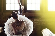 Tattooed ballerina