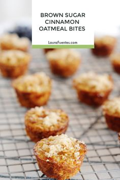 These Brown Sugar Cinnamon Baked Oatmeal Bites are a delicious portable snack and also great for busy back to school mornings! Thanks to @QuakerOats these oatmeal bites are both a wholesome whole-grain option! #ad #wholegrain #backtoschool #oats Oatmeal Bites, Baked Oatmeal Cups, Real Food Recipes, Snack Recipes, Yummy Food, Flour Recipes, Muffin Recipes, Brunch Recipes, Dessert Recipes