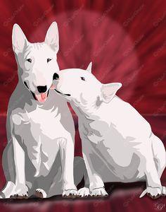 bull terrier print #dogs #animal #bull #terrier