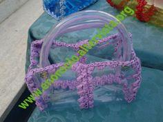 Plastica trasparente - filo fucsia