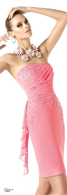 Definitely a hostess dress for black tie affair or gorgeous dress if your guest at special party by Pronovias  2014