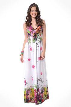 vestido longo barrado - Pesquisa Google