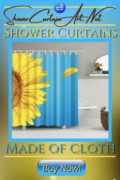 High Quality Fabric! Our luxurious high quality fabric shower curtains are all made with 100% premium grade soft polyester cloth. This allows the curtain to drape gracefully while also providing quick drying technology which easily evaporates any unwanted moisture. Shower Curtain Art, Cool Shower Curtains, Floral Shower Curtains, Bathroom Curtains, Shower Accessories, Curtains With Blinds, Home Decor Styles, Home Accents, Soft Fabrics