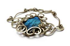Wire Wrap Art Nouveau Bracelet with Labradorite by HyppieChic, $52.00