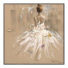 Tanečnice bílá - dekorace na zeď