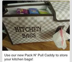 Pack n pull caddy holds all those bags in ur kitchen #thirtyonegifts #pantryorganized #organization
