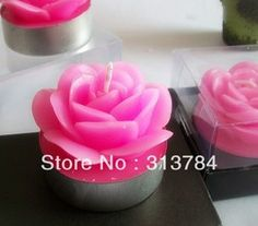 Flower scented candle