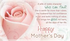 Happy Mother's Day To My Wife!