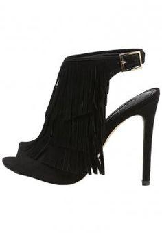 Topshop - RHONDA - Sandały na obcasie - black