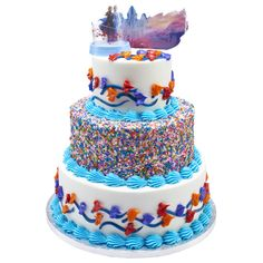 Let the Desserts Rage On! Frozen 2 Ice Cream Is Here Just in Time for the Premiere 7th Birthday Cakes, Frozen Themed Birthday Party, Frozen Party, 6th Birthday Parties, Carnival Birthday, Birthday Ideas, Elsa Frozen, Pastel Frozen, Anna Frozen Cake