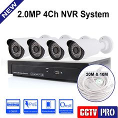 239.99$  Watch here - http://ali927.worldwells.pw/go.php?t=32450143703 - 4CH 2.0MP 1080P POE NVR KIT Bullet IP Camera System Camera HD P2P With 4PCS Realtime CCTV Camera Security System HDMI&VGA Output
