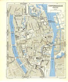 Map Print 1951 US City Street Map Vintage 1951 Atlas by AgedPage