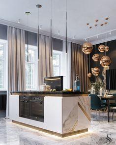 Home Decor Kitchen .Home Decor Kitchen Luxury Home Decor, Luxury Interior, Cheap Home Decor, Luxury Homes, Home Decor Store, Diy Interior, Luxury Kitchen Design, Interior Design Kitchen, Interior Decorating