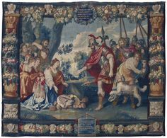 'Prudence of Abigail', A Flemish Old Testament Tapestry, Bruges, from the series depicting Virtuous Women of Antiquity, circa 1650 Medieval Tapestry, Medieval Art, Virtuous Woman, Old Testament, Tapestry Weaving, Bruges, Impressionist, Modern Art, Hand Weaving