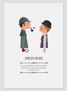 Illustration. Sherlock Holmes. Print. Wall art by Tutticonfetti
