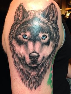 "Wolf tattoo by Walter ""Sausage"" Frank @ Revolt Tattoos #jointherevolt"