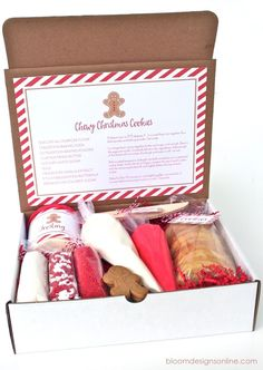 GIFT IDEA Christmas Cookie Kit This would be a great gift for a Single parent. a Fun to do together gift.