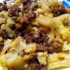 Cheeseburger Cauliflower « Healthy Low Carb 1 pounds ground beef 1 pound cauliflower 1 cup cheddar cheese teaspoon garlic salt salt and pepper, to taste Paleo Recipes, Low Carb Recipes, Dinner Recipes, Cooking Recipes, Low Carb Hamburger Recipes, Cooking Rice, Drink Recipes, Tasty Meal, Keto Meal