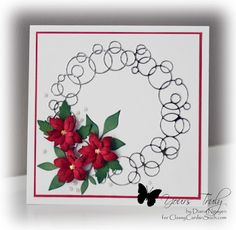 Diana Nguyen, Memory Box, Poinsettia, Poppystamps, Christmas