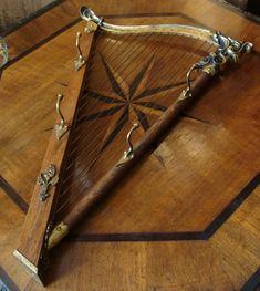 Design Garderobe Harfe Bronze Palisander massiv Wandgarderobe Kleiderhaken 60er