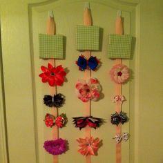 Bow holders I made for Rylan's room