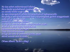 Wass Albert Te és a világ Your Family, Quotations, Mindfulness, Qoutes, Quotes, Sayings, Quote