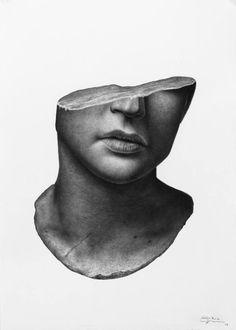 Original Portrait Drawing by Silvio Giannini Photorealism Art on Paper The Last Man # Photomontage, Art Sketches, Art Drawings, Fine Art Drawing, Paper Drawing, Tears Art, Realistic Eye Drawing, Stippling Art, A Level Art