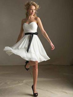 A-Linie Herzform Knielänge Chiffon Brautjungfernkleid mit Schärpen