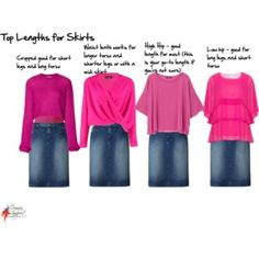 top lengths for skirts