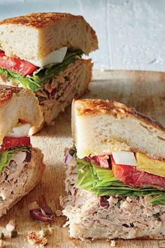 How to Build a Pan Bagnat, the Picnic-Perfect Sandwich Tuna Recipes, Gourmet Recipes, Cooking Recipes, Healthy Recipes, Dinner Recipes, Cheap Recipes, Pan Bagnat, Ciabatta, Cooking On A Budget