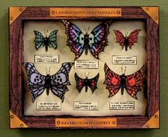 FREE Haunted Paper Toys ~ FLUTTERBATS If you enjoy the notion of butterfly collecting, but always feel a bit let down because there isn't more danger involved, then perhaps you should consider collecting a few Flutterbats instead. They're not just nocturnal... they're carnivorous!