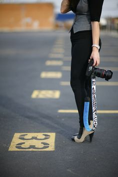 Now, that's shooting in style! Get your fashion forward camera strap at #modstraps.com
