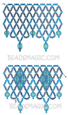 Free pattern for necklace Blue | Beads Magic