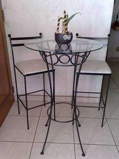 mesas altas de hierro forjado - Поиск в Google                                                                                                                                                                                 Más