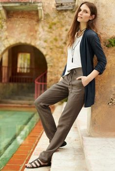Pure Linen Straight Leg Trousers for Tall Women | Long Tall Sally Australia