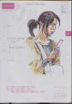 A woman I saw in the commuter train. 『ポニーテール』