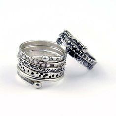 made from fine silver wire-half round