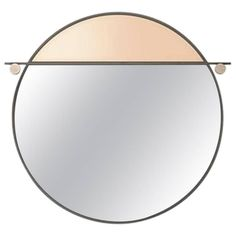 Abal Round Mirror by Studio Matter Made | From a unique collection of antique and modern wall-mirrors at https://www.1stdibs.com/furniture/mirrors/wall-mirrors/