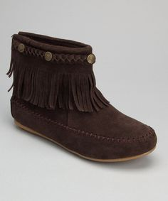 Shoes of Soul Brown Fringe Ankle Boot