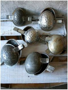 old chocolate molds - Easter eggs!