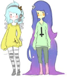 adventure time oc | Time Princess and Space Princess